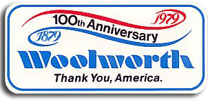 Woolworth's 100th Anniversary logos from the USA and Canada
