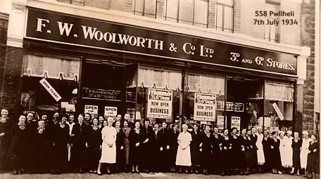 A new F. W. Woolworth store in High Street Pwellheli, Gwynedd, Wales - which opened on 7th July 1934