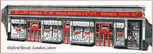 An artist's impression of the F. W. Woolworth store in Oxford Street, London, W1, which opened in 1924.