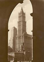 The Woolworth Building in Broadway Place, New York - headquarters of the five-and-ten chain