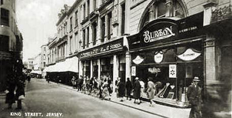 The F. W. Woolworth Threepenny and Sixpenny Stores in King Street, St Helier, Jersey, Channel Islands, which opened on 9th April 1921 and, after 78 years of exemplary service and exceptional profits, closed acrimoniously when the parent company collapsed into Administration at Christmas 2008