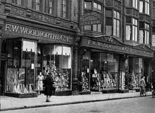 The F. W. Woolworth store in Grafton Street, Dublin, which opened in 1914