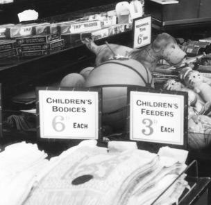Kids clothing and children's toys have been part of the Woolworths range since the first British store in 1909. Here are some of the products that could be purchased for threepence (1½p) or sixpence (2½p).