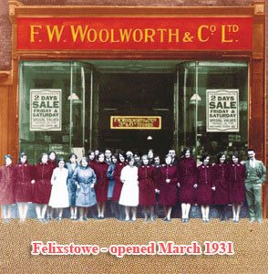 The two-day sale at Woolworths in Felixstowe, Suffolk in the early 1930s