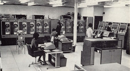 The air conditioned computer room at F. W. Woolworth's Central Accounting Office in Castleton, Rochdale, Lancashire