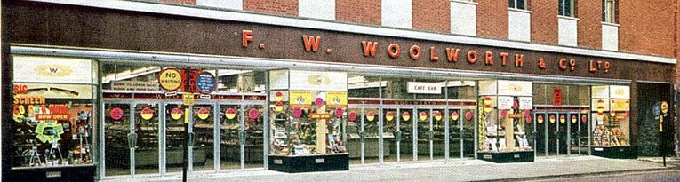 A new look Woolworth for Shrewsbury in the mid 1960s.  The new store had been converted from former hotel premises.