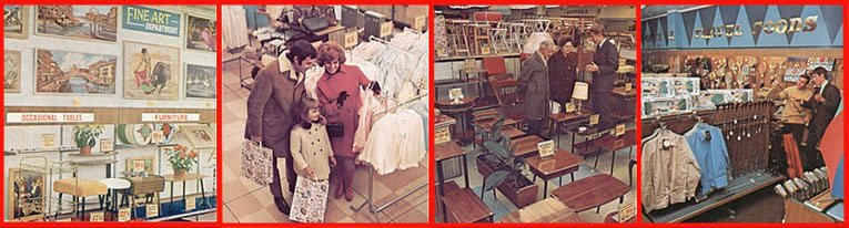 New ranges in the larger Woolworth stores in the late 1960s included Fine Art, Extended Fashions, Furniture and Carpets, Sports and Leisure Goods