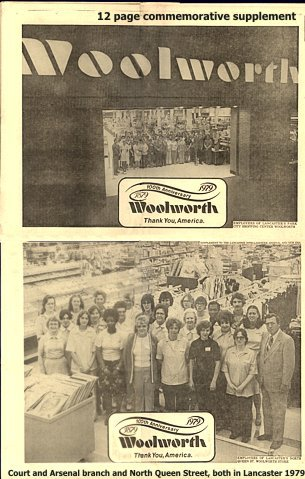 A commemorative newspaper supplement was published with the Lancaster Intelligencer Journal and New Year in May 1979. It features pictures of the assembled associates from each of the two Lancaster stores - the downtown store in North Queen Street and the out-of-town store between Court and Arsenal which opened in 1971