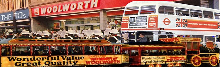 The chain got a makeover in the 1970s. The new look stores and advertising were bannered 'The Wonder of Woolworth'