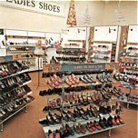 The chain's 1970s shoe range comprised modern styles at budget prices and sought to grab some of the market from the British Shoe Corporation
