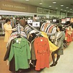 Ladies fashions at Woolco, Middleton in 1974