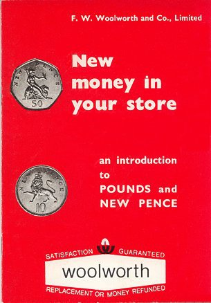 "A training booklet explaining the new decimal currency to Woolworths staff - published in 1970 in preparation for ""D-Day"" the following February"