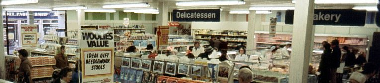 Delicatessen and bakery departments had pride of place at the front of Southend-on-Sea store, which was typical of the largest British Woolworth stores of the late 1970s. This picture is from 1977.