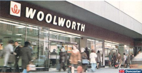 Woolworths in Doncaster, South Yorkshire, England - one of many British stores to get a refurbishment and a new look in the 1970s