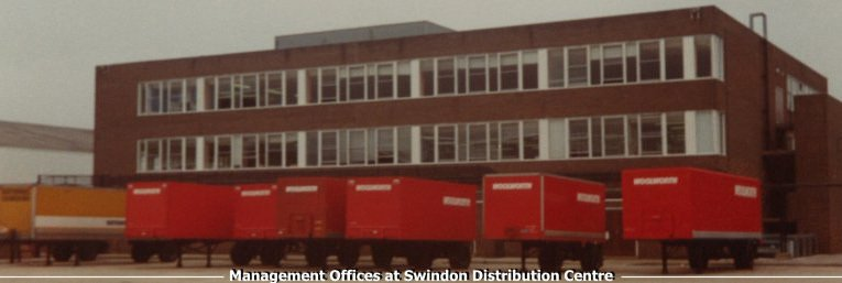 The management offices at the new Distribution Centre in Faraday Road, Swindon, Wiltshire, which opened in 1973
