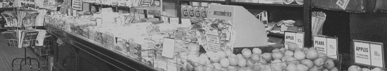 A snapshot of the Woolworths salesfloor at Stone, Staffordshire, UK in the 1975. This was one of the last personal service stores with tills at each counter and is pictured immediately before it closed for modernisation.
