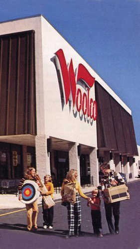 A new look 70s Woolco store in the USA