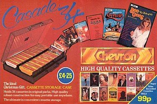 Chevron LPs and Cassettes were exclusive to Woolworths and were advertised by Woolworths rather than the manufacturer