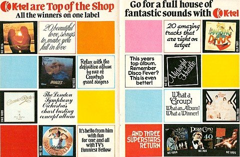 Budget LPs from K-Tel on sale at Woolworths at Christmas 1978