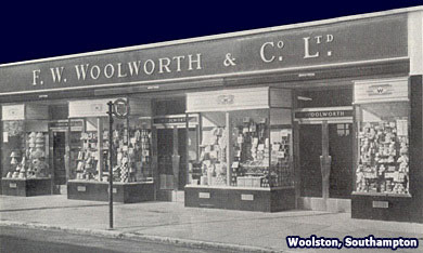 A new F. W. Woolworth store for Woolston, Southampton, Hampshire, which opened on 19 October 1951