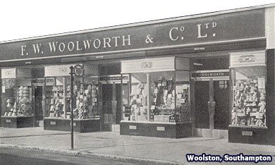 A new single-storey F. W. Woolworth store for Woolston, Southampton, Hampshire, which opened on 19 October 1951