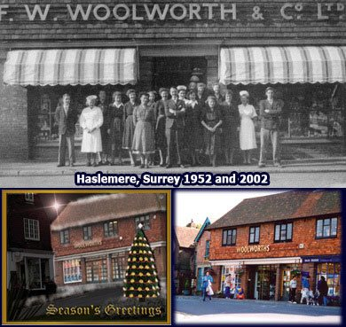 A jewel in the Woolworth crown - the Haslemere store in Surrey, which opened in 1952 and continued to prosper until the whole chain got into difficulties in 2008