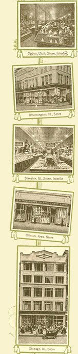 Some of the stores in the United States of America pictured at around the time of the launch of the British company.  At this time the American F. W. Woolworth & Co was operating a total of 220 stores.