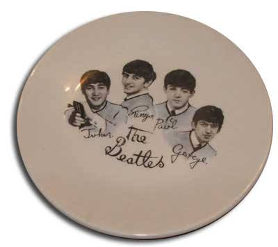 A popular and highly collectable Beatles plate, manufactured for Woolworths by Washington Pottery Ltd in 1963-5