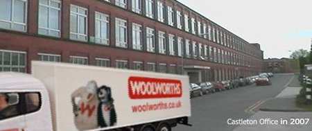Woolworths Central Accounting Office in Castleton in 2007, a year before the end.