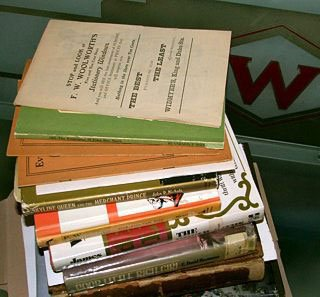 Some of the published and private biographies and histories collated as part of building the Woolworths Museum