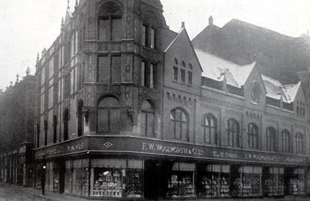 The F. W. Woolworth store in St. James's Street, Burnley, Lancashire, which opened in 1924