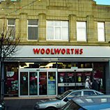 The Woolworths store in High Street Mold, Clwyd, North Wales