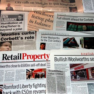 The emerging news of Woolworths' demerger from Kingfisher whipped the media into a frenzy