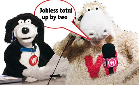 Hapless and jobless - or just resting like any good Thespians? Wooly and Worth await your call