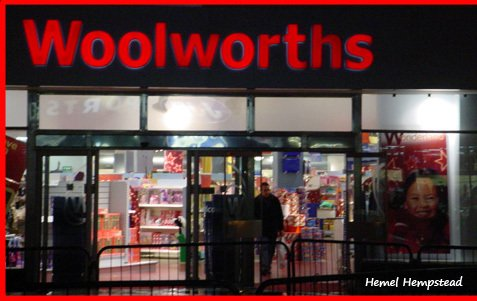 The first new-look Woolworths after demerger - Hemel Hempstead in Hertfordshire, which just happened to be the in the CEO's home town