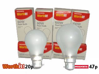 Light bulb moment - 'What's the difference? - No watts but 27p!'