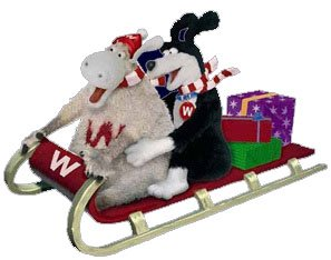 Riding in on a sleigh - Wooly and Worth