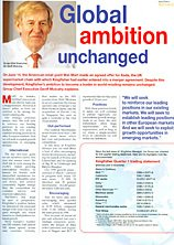 Kingfisher CEO Sir Geoffrey Mulcahy sought to reassure his management team that the Group's global ambition remained unchanged in Kingfisher Manager magazine in June 1999