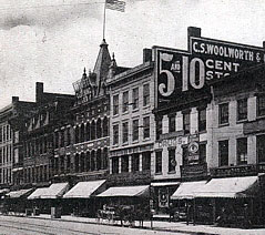 The C. S. Woolworth Five and Ten Cent Store in Genessee Street, Utica, pictured in around 1905