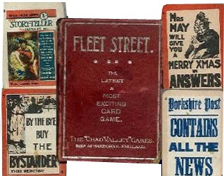 The Chad Valley 'Fleet Street' game was typical of many early products. It consisted principally of paper off-cuts from the Johnson family's printing works
