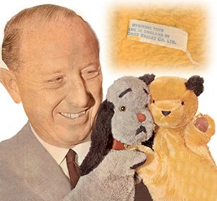 Superstar Harry Corbett with Sooty and Sweep