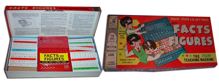 Co-branded Milton Bradley and Chad Valley, the Facts and Figures game was one of the last products to be marketed under the name that was made in Britain.  It was firmly pitched at Chad Valley's up-market clientelle.