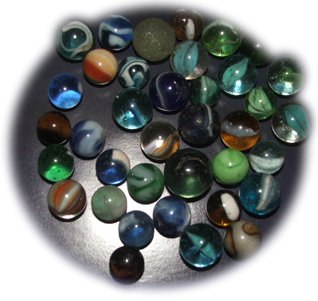 Glass marbles were a big favourite at Woolworths in the period from 1909-1939