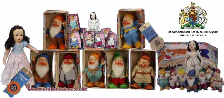 Chad Valley's Snow White and the Seven Dwarfs from 1937 - today a complete set fetches thousands of pounds at auction