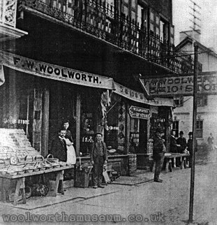 The original Woolworth store in Lancaster, Pennsylvania, USA - pictured in the 1880s