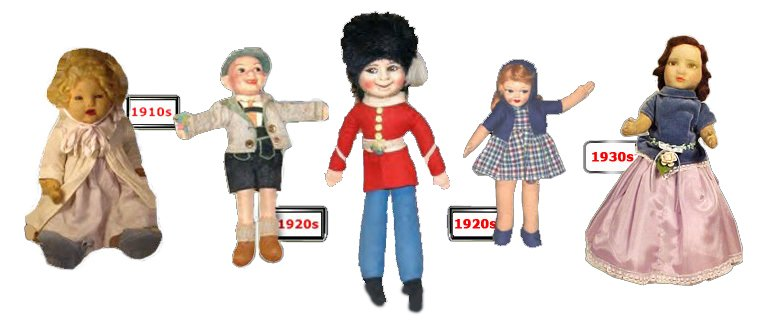 Popular pre-war designs from the Wrekin Toy Works in Wellington, Staffordshire, UK, which was acquired by the Chad Valley Company in the 1920s
