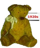 A 1920s Chad Valley teddy following the original design.  Initially manufactured in Harbourne, Birmingham, England soft toy production was moved to the Wrekin Toy Works, Wellington, Staffordshire in the early 1920s.