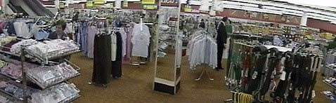 An entire large salesfloor of fashion in a Woolworth store in 1983 - apparel was intended to play a key part in the  cornerstone strategy