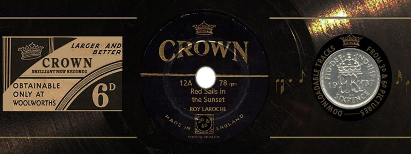Crown Records 12A: Red Sails in the Sunset
