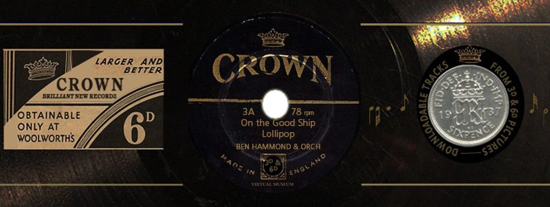 Crown Records 3A: On the Good Ship Lollipop